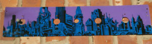 SEGA Data East Batman Forever rear panel pinball plastic playfield Gotham City