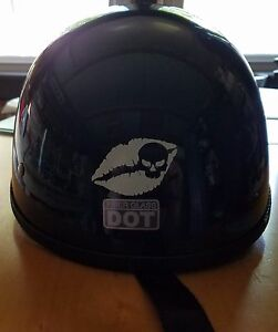 Kiss Of Death Helmet Decal Motorcycle Helmettank Decal Sticker - Motorcycle helmet decal