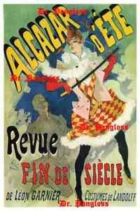 Vintage-French-Advertising-Poster-Print-Alcazar-D-039-Ete-Revue-Fin-De-Siecle