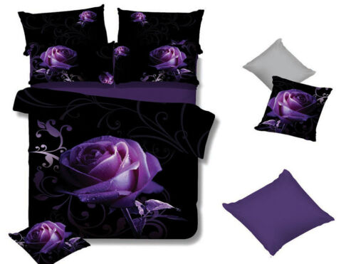 Pair of Purple ROSE Standard Pillowcases New 48cm x 73cm