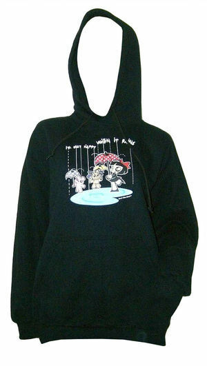 16-26 SCARY MISS MARY GOTHIC HOODIE HAPPY WHEN RAINS THICK PLUS SIZE ANIME TOP