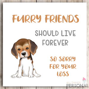 Loss Of Pet >> Details About Sorry For Your Loss Dog Sympathy Card Condolence Furry Friend Loss Of Pet Puppy
