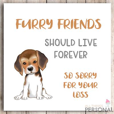 Fur Baby Handmade Dog Sympathy Card Puppy Fur Friend