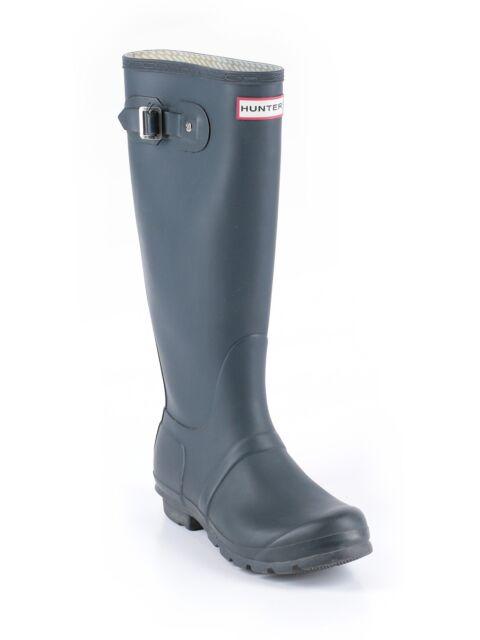 Women Navy Blue Original Tall Hunter Rain Boots Wellies -6365