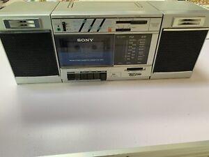 Vintage-Sony-CFS-3000-Transound-FM-AM-Cassette-Recorder-Boombox-Tape-Broken