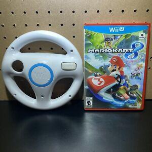 Mario Kart 8 Nintendo Wii U 2014 with Steering Wheel - Tested