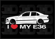 I Heart My E36 Sticker Decal Love BMW M3 Slammed Euro Germany Sedan