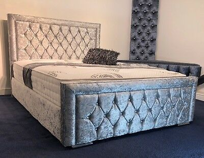 Groovy Red 6Ft Super King Size Crushed Velvet Ottoman Foot Lift Ibusinesslaw Wood Chair Design Ideas Ibusinesslaworg