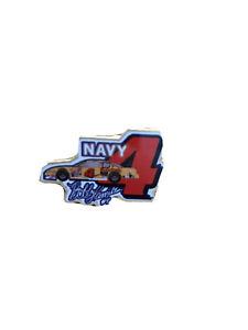Nascar-Hat-Pin-Vintage-Lapel-Pin-Collectible-Bobby-Hamilton-4-Navy