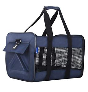 Petper-CW-128-Soft-Sided-Carrier-Pet-Cat-amp-Dog-Carrying-Handbag-16-9x3-2x12-in