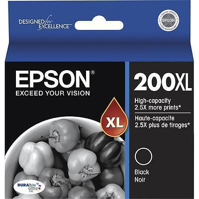WORKFORCE WF-2540 NO RETAIL BOX 4-PACK Epson GENUINE 200XL Black /& Color Ink