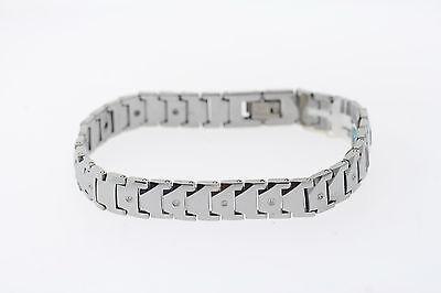 10.5mm Wolfram .12ctw Original Diamant Geometrischer Form Link Armband 15.9cm