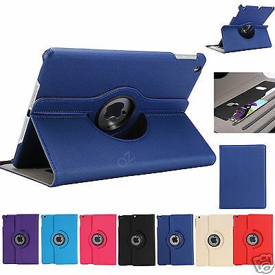 360 Rotating Wallet Smart Cover Case for Apple iPad Air iPad 5