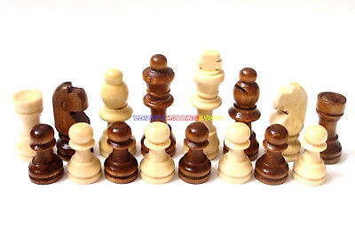 Pieces Only New Wooden Chess Set 32 Pieces King 5.3cm Ht. Total Weight 90g