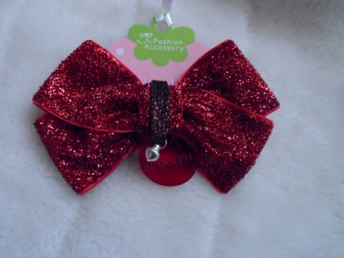Santa perdu bouton//Rudolph perdu Tag propriété de Santa Claws bouton//Red Hair Bow