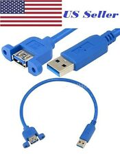 High Speed USB 3.0 Male to Female Panel Mount Extension Cable