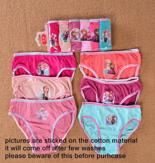 NIP Disney Frozen Girls Cotton Briefs Knicker 6 packs Underwear Panties Gift Set
