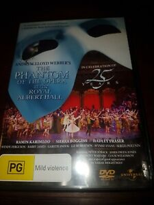 PHANTOM-OF-THE-OPERA-25th-Anniversary-At-The-Royal-Albert-Hall-DVD-good-used