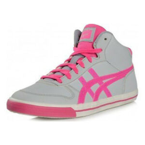 Onitsuka-Tiger-Girls-High-Top-Boot-Trainers-Grey-and-Pink-UK3-UK6