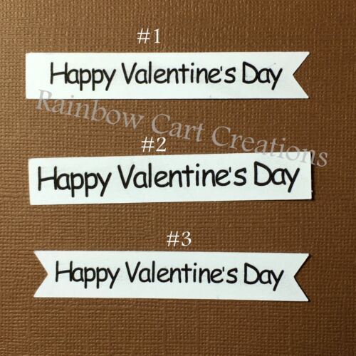 20 Happy Valentine Day Card Sentiment 3 Die Cut Embellishment Cutout Card Topper