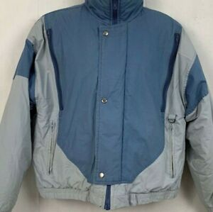 Vintage-Penfield-Mens-Puffer-Coat-Zip-Pockets-Blue-Gray-Winter-Jacket-Size-Large