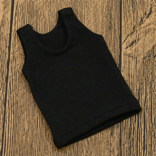 1:6 Scale Action Figure Toy Summer Sleeveless Tee Vest Cool Tops Male Suit DIY