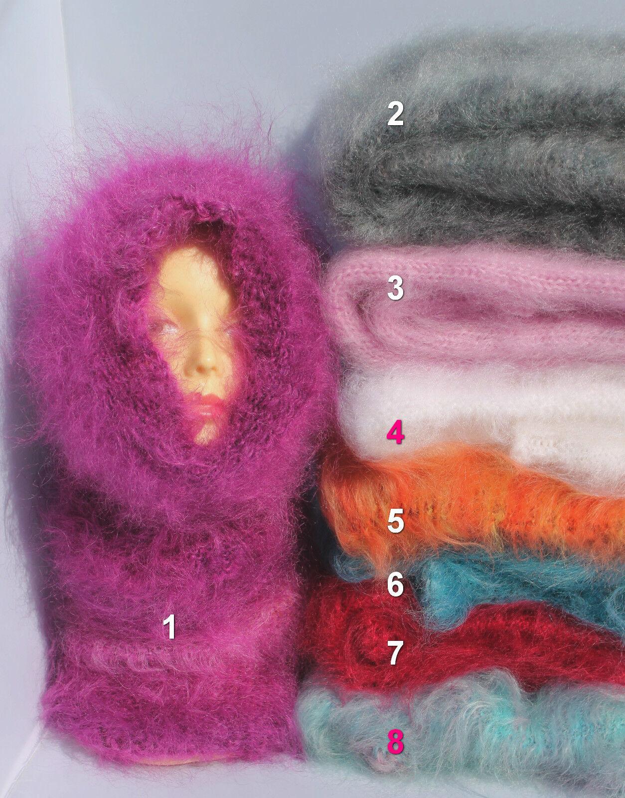 *Schal Schlauchschal Mohair soft fuzzy TUBE scarf shawl T-Neck Rollkragen