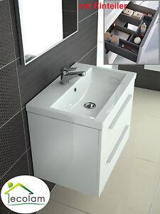 Das Bild Wird Geladen Badmoebel Waschbecken 100 Cm Waschtisch Unterschrank  Schublade Schubladenteiler
