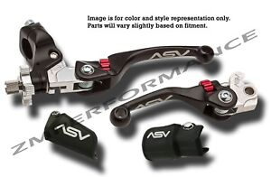 ASV Black F3 Unbreakable Folding Brake Clutch Levers Kit Raptor 700 2006