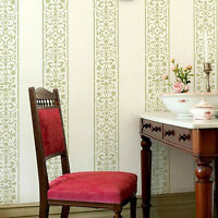 Arabesque Stripe Wall Stencil - Reusable Elegant Stencil For Walls And Fabrics