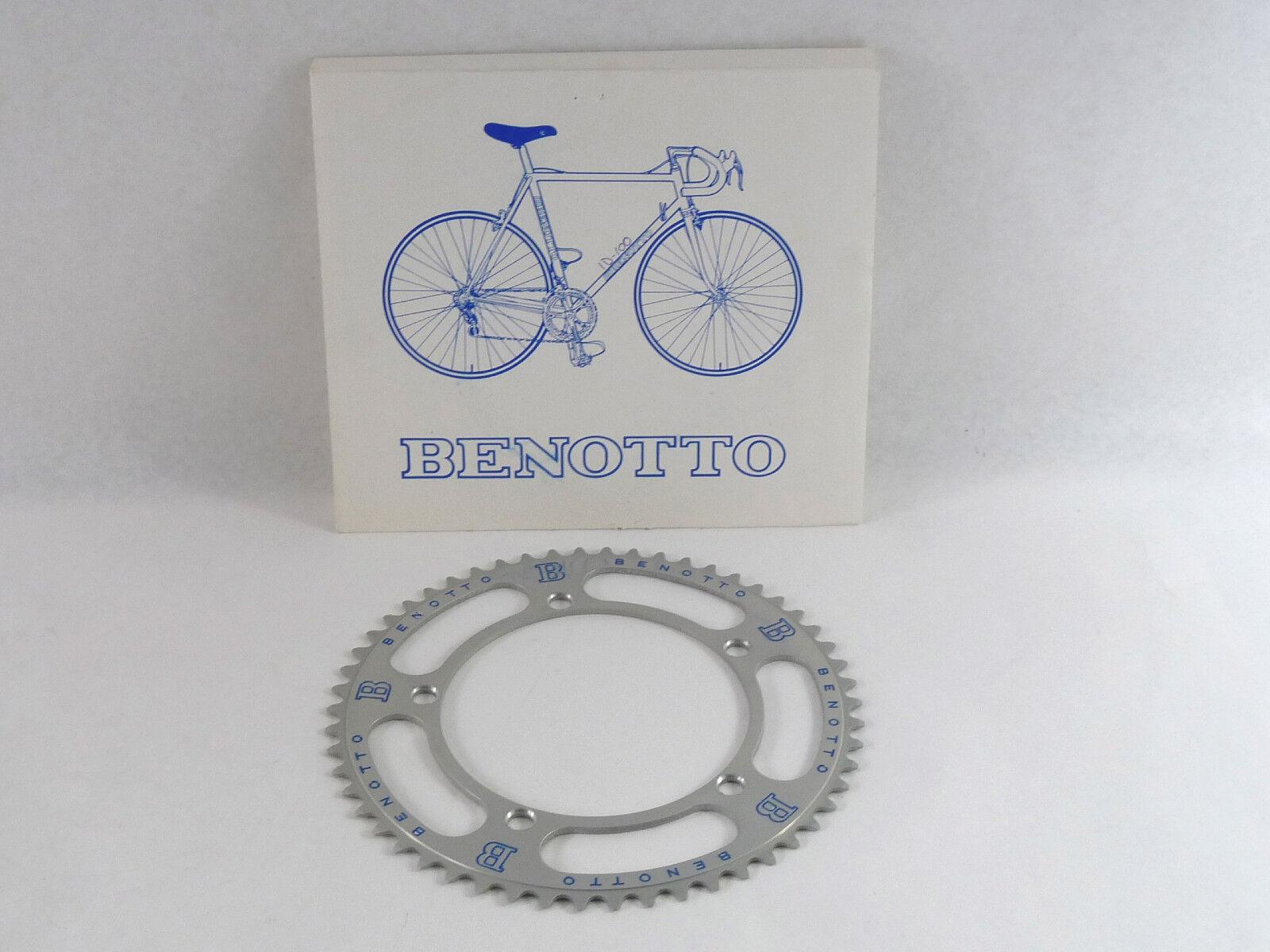 Benotto PLATO pantógrafo 54t 144 BCD 3 32  Vintage Bike Fit Campagnolo nos