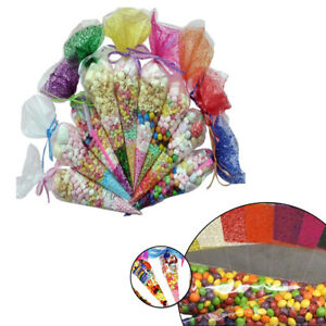 Details About Cello Cellophane Wrapper Plastic Cone Sweets Candy Treat Gift Reception Party