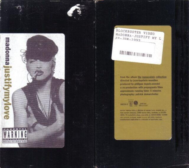 VHS: MADONNA JUSTIFY MY LOVE