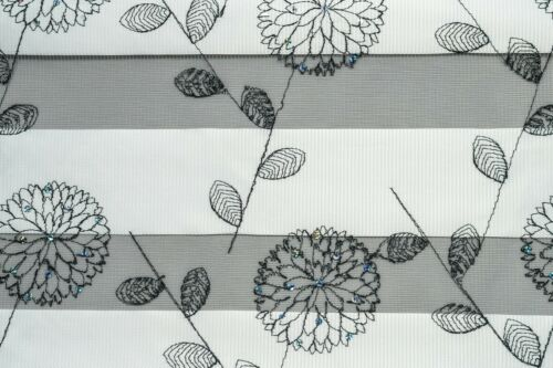 Made To Measure Day and Night Zebra Window Roller Blinds With Floral Patterns