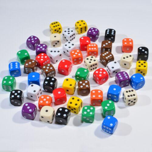 50 Stück 12mm Elfenbeinfarbe Knobel Würfel Spiele-Zubehör Augen Würfel Spielwürfel von Frobis
