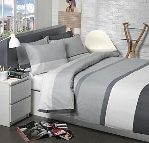 dunelm product set and willington pillowcase striped grey woven main cover duvet