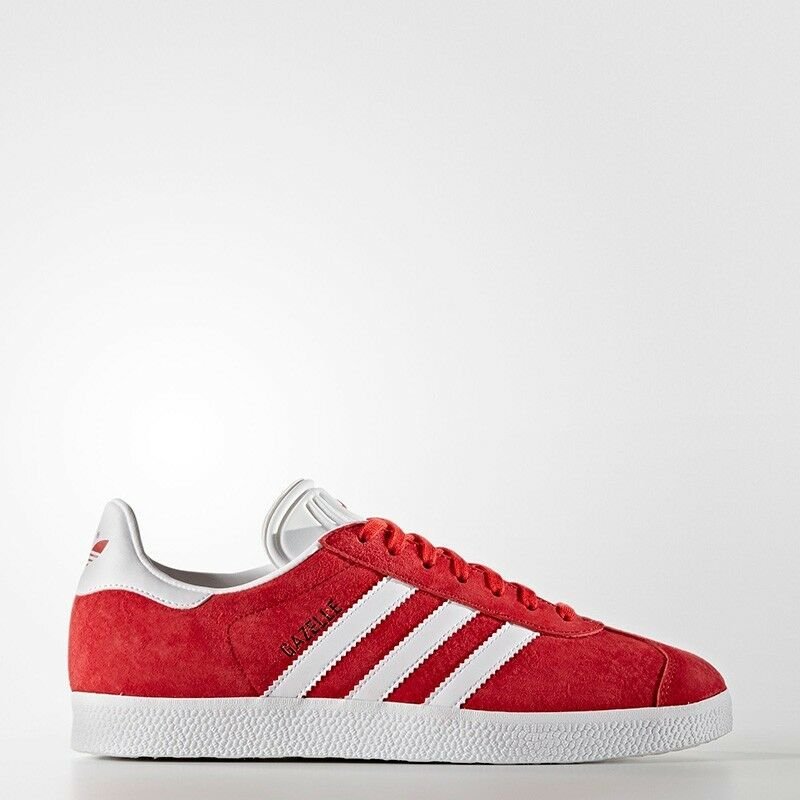 New Men Adidas Originals Gazelle Sneakers Scarlet 8.5 9 tefoil campus red
