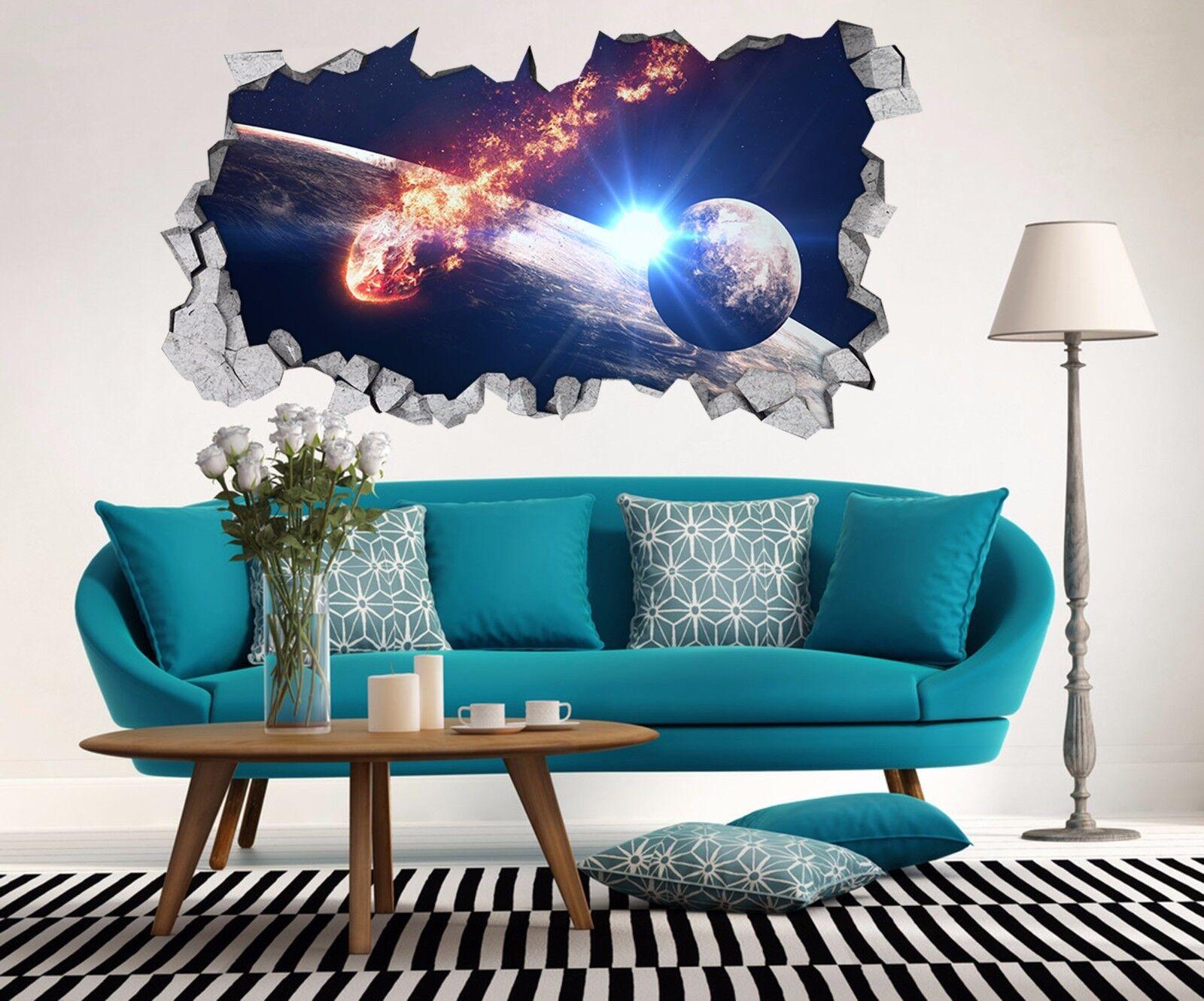 3D Stern Erde 89 Mauer Murals Mauer Aufklebe Decal Durchbruch AJ WALL DE Kyra