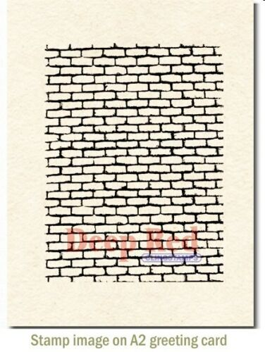 Deep Red Stamps Brick Wall Background Rubber Cling Stamp