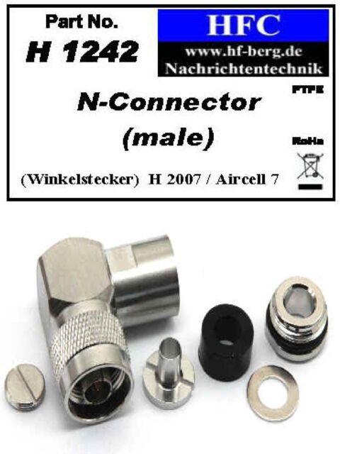 1 Stück N-Winkel-Stecker für H 2007 / Aircell 7 Koaxkabel 50 Ω (H1242)