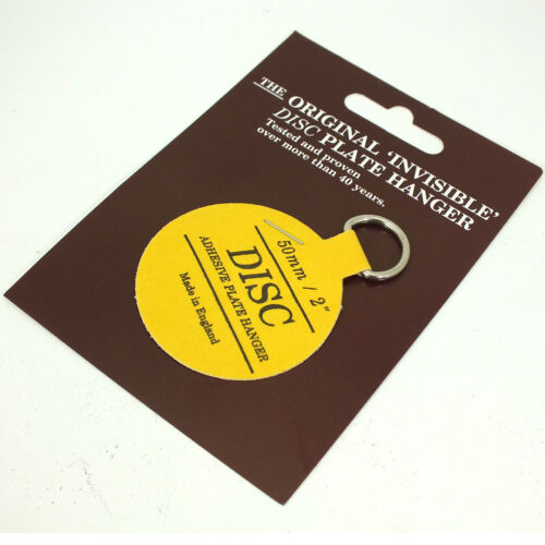 LARGE NEW NON MARKING ADHESIVE DISC PLATE HANGER Hanging Picture Hook SMALL