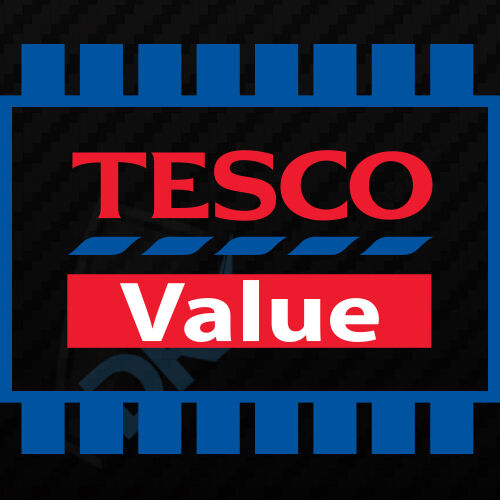 TESCO VALUE COLOUR FUNNY CAR VAN  BUMPER EURO JDM DUB DRIFT VINYL DECAL STICKER