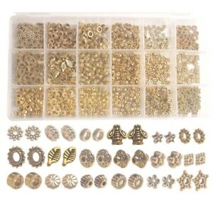 900PCS-Box-18-Styles-Antiqued-Gold-Metal-Spacer-Beads-Accessories-for-Jewelry