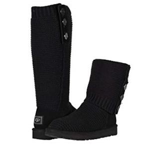 Schwarze Neu Purl Damen Strickjacke Stiefel Größe Strick 6 Ugg FJ1cTlK