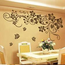 DIY Vine Flower Butterfly Removable Vinyl Wall Decal Sticker Home Decor Art