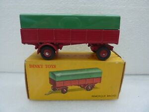 A0039 Dinky Toys France 70 Remorque Bachee Rouge Tres Bon Etat Boite D Origine