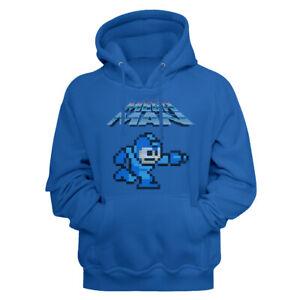 Mega-Man-Video-Game-Mega-Gunner-Royal-Blue-Adult-Pullover-Hoodie