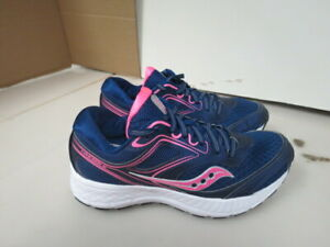 WOMENS SAUCONY GRID COHESION 12 BLUE WHITE PINK RUNNING SHOES SIZE 5.5M A90