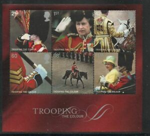 Great Britain Sc 2293a 2005 Trooping the Colour stamp souvenir sheet mint NH