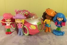 Strawberry Shortcake Figures Car Angel Cake Blueberry Muffin Orange- Lights Up!